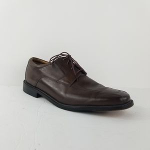 Bostonian 13 brown leather derby lace shoes